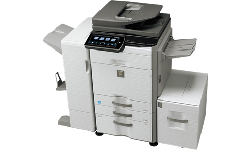 MX 3640N full beauty - Sharp announces new high performance workgroup document systems with second generation touch-screen and enhanced cloud capability.