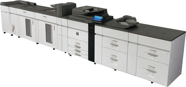 MX M1204 FULL BEAUTY2 - Sharp Introduces Plockmatic Booklet Maker System and GBC SmartPunch Pro Punching System for MX-M904/M1054/M1204 Light Production Document Systems