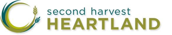 Second Harvest Logo wide - $1 provides 3 meals - Donate to Second Harvest Heartland!