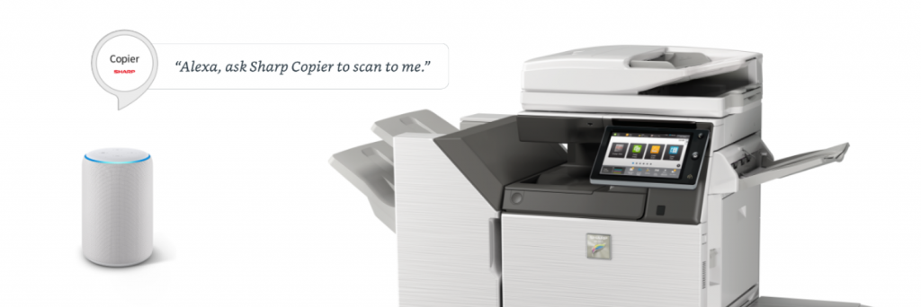 Sharp Alexa Snip 1024x342 - Sharp Color MFPs for the Technology Driven Workplace