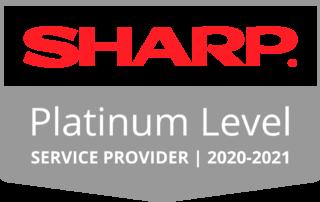Sharp PlatinumLogo Badge 20 21 320x202 - DTS Recognized as a 2020-2021 Platinum Level Service Provider