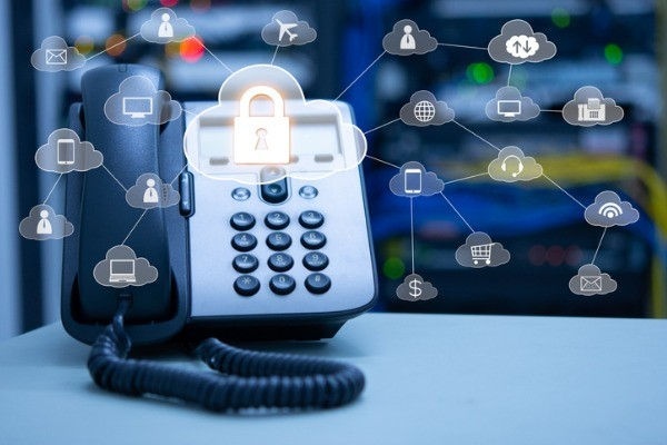 telephony cloud services concept ip phone device on blurred data and picture id963392186 1 - Phone Systems
